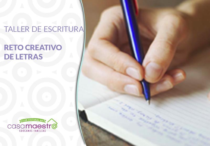 Reto creativo de letras, taller de escritura